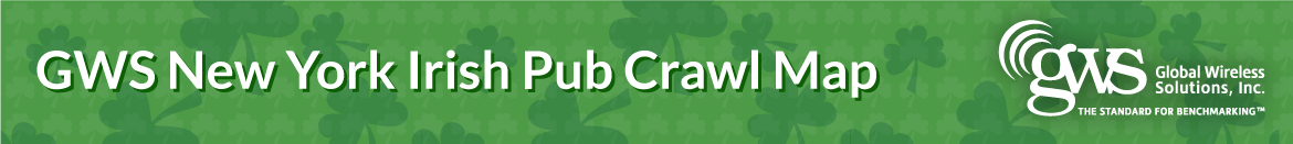 GWS NYC Irish Pub Crawl Map
